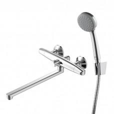 Смеситель для ванны с длинным изливом с керамическим дивертором, Funk, IDDIS, FUNSBL2i10