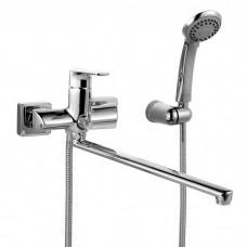 Смеситель для ванны с длинным изливом с керамическим дивертором, Harizma, IDDIS, HARSBL2i10