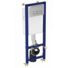 Система инсталляции для подвесных унитазов, панель слива двойная, квадратная, хром W3710AA