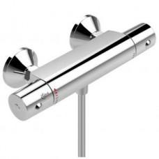 """""""Сератерм 50"""" смеситель настенный термостатический  для душа, выход для душевого шланга по центру, литой корпус, хром A6367AA"""