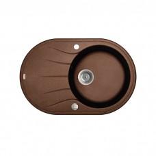 Мойка Granucryl,  цвет шоколад, одна чаша, 770*500, Kitchen G, IDDIS, K18C771i87