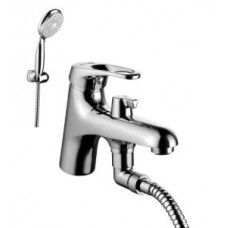"""""""Омега"""" Смеситель на борт ванны, с коротким изливом, с аксессуарами, хром арт. LM3115C"""