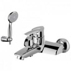 Смеситель для ванны, с коротким изливом, с аксессуарами, хром арт. LM3502C