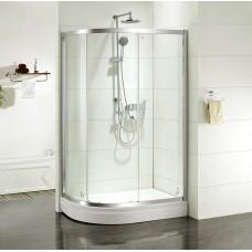 Дверки душевые, полукр, глянцевый хром, стекло прозрачное, поддон низкий, 120*80*185 см, Mirro, IDDIS, M70R128i23