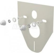Звукоизоляционная плита для подвесного унитаза и для биде с принадлежностями и колпачками (белыми) M910