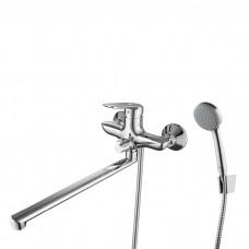 Смеситель для ванны с длинным изливом с керамическим дивертором, Male, IDDIS, MALSBL2i10