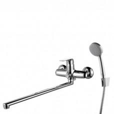 Смеситель для ванны с длинным изливом с керамическим дивертором, Pond, IDDIS, PONSBL2i10