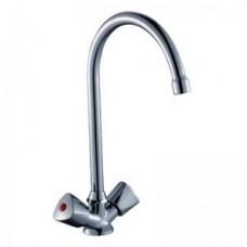Смеситель двуручный    для кухни, с  высоким поворотным изливом 260 мм, хром M02-72