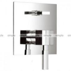 Смеситель для ванны, внутристенный монтаж, однорычажный, наружная часть, автоматическое переключение душ/ванна, цвет хром Арт. 1352102