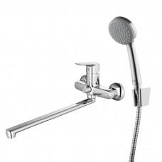 Смеситель для ванны с длинным изливом с керамическим дивертором Vibe, IDDIS, VIBSBL2i10