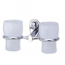 Подстаканник для зубных щеток, двойной, хром  арт. WK9228D