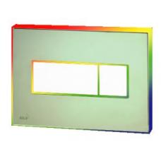 Кнопка управления с цветной пластиной (Зеленый) - светящиеся (Радуга)  M1472 - AEZ114