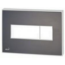 Кнопка управления с цветной пластиной (Черный – матовый) - светящиеся (Белый)  M1475-AEZ110