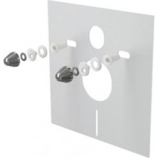 Звукоизоляционная плита для подвесного унитаза и для биде с принадлежностями и колпачками (хромированными) M930CR