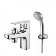 """""""Смарт-Инлайн"""" смеситель для ванны настольный, керамический переключатель,  с аксессуарами, хром SM103509AA_R"""