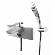 Меланж Смеситель для ванны с коротким изливом, хром/белый LM4914CW