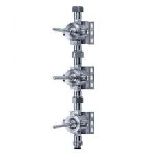 Встраиваемый модуль, 3 запорных вентиля, запирание вправо, керамические кран-буксы, цвет хром Арт. 649.20.630.000