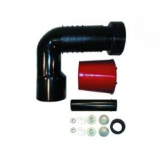 HL225.1/90 Отводящий патрубок для консольных унитазов, с крепежным комплектом