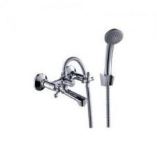 Смеситель двуручный   для ванны, с коротким изливом, хром G02-81