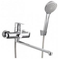 Смеситель одноручный (35 мм)  для ванны, с плоск.изливом 320 мм, диверт.с кер.пласт., хром V35-32