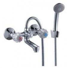 Смеситель двуручный  для ванны, с коротким изливом, хром N02-81
