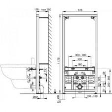 Рама для биде (высота монтажа 1,2 м)A105/1200