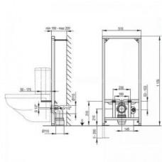 Рама для подвесного унитаза WC Kombi (высота монтажа 1,2 м) A113/1200
