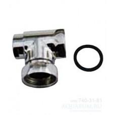 унитаз/кран запорный угл для EN445 (хр) E74184-CP