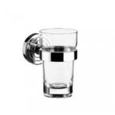 Стакан для зубных щеток polo, 115х64х98мм,материал-стекло,в комплекте с настенным держателем,хром арт.072000100