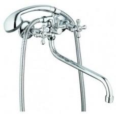 смеситель G-lauf для ванны с круглым пов. изливом, резиновая (1/2), штоковое переключение JML7-A605