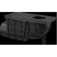 Ливнеотвод 300 x 155/110, подводка – боковая, черный       AGV3