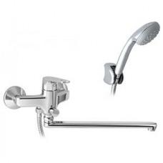 Смеситель для ванны и умывальника с душевым набором Basic 46.122.02.50