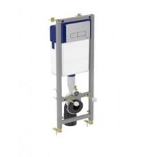 Система инсталляции для монтажа подвесных унитазов, крепление к стене, двойная хромированная панель смыва W3714AA