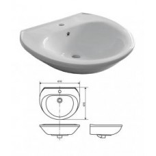 """""""Тайп"""" (BOX) умывальник 61 см,с хром.кольцом,белый VT5302W"""