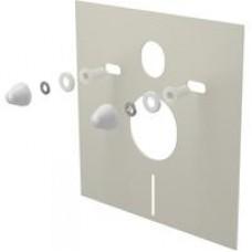 Звукоизоляционная плита для подвесного унитаза и для биде с принадлежностями и колпачками (белыми) M930